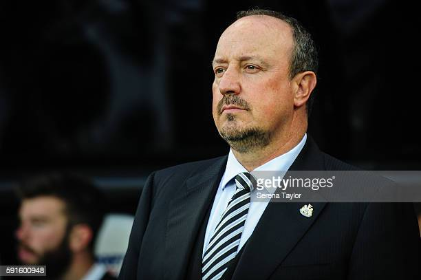 Newcastle Unitedâs Manager Rafael Benitez stands in the dugouts during the Sky Bet Championship match between Newcastle United and Reading at...