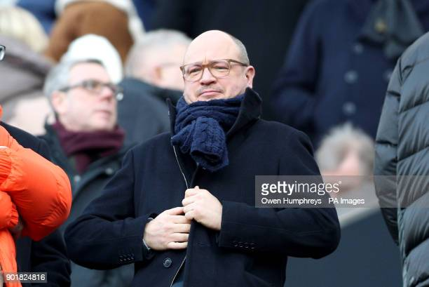 Newcastle United's managing director Lee Charnley during the FA Cup third round match at St James' Park Newcastle