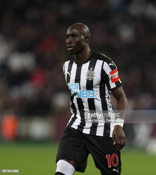 Newcastle United's Mohamed Diame during the Premier League match between West Ham United and Newcastle United at London Stadium on December 23 2017...