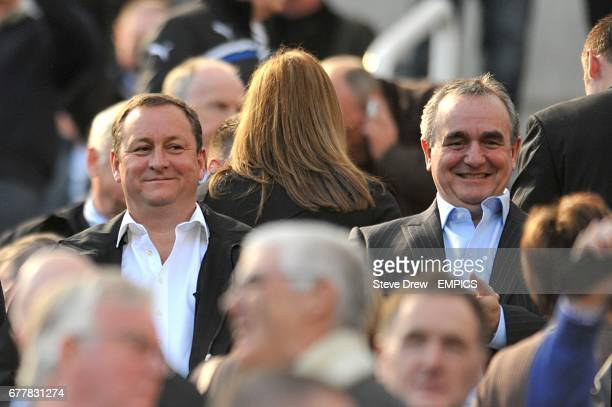 Newcastle United's owner Mike Ashley and Chief Executive Derek Llambias in the stands