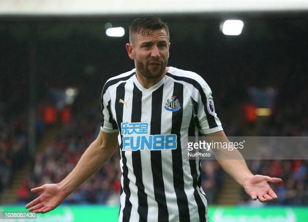 Newcastle United's Paul Dummett during Premier League between Crystal Palace and Newcastle United at Selhurst Park Stadium London England on 22 Sept...