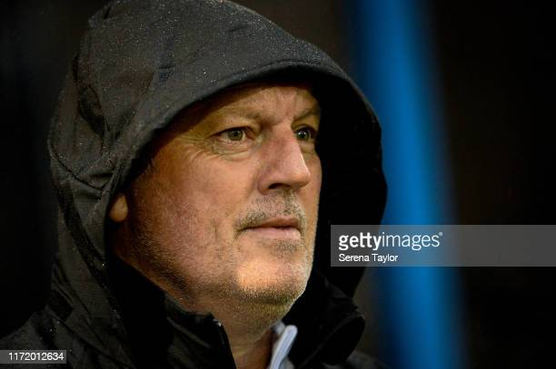 Newcastle United's Under 23 coach Neil Redfearn during the EFL Trophy Match between Macclesfield Town and Newcastle United U23 at Moss Rose Ground on...