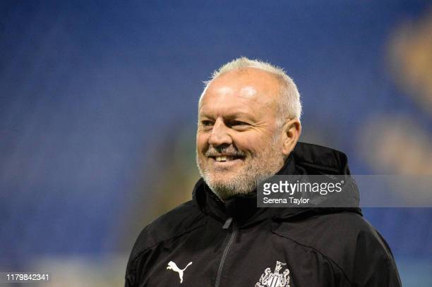 Newcastle United's Under 23 coach Neil Redfearn during the Leasingcom Cup match between Shrewsburt Town and Newcastle United U21 at Montgomery Waters...