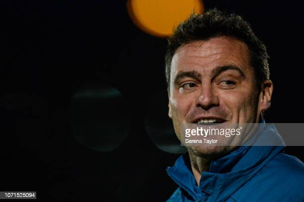 Newcastle United's Under 23 goalkeeping coach Steve Harper during the Premier League 2 Match between Newcastle United and Norwich City at Whitley...