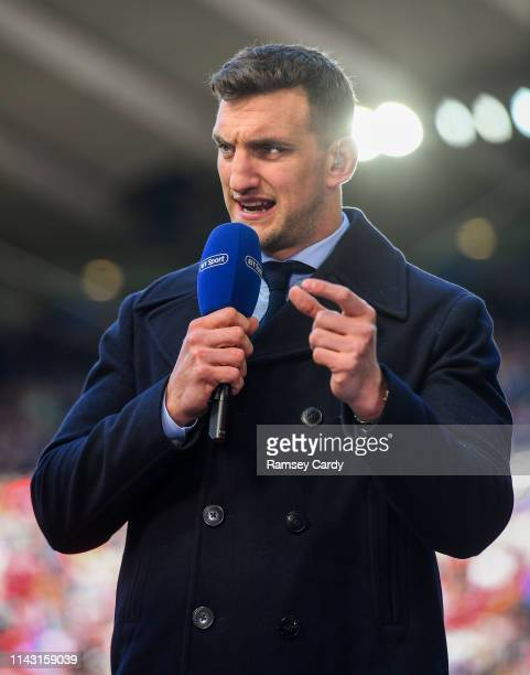 Newcastle Upon Tyne , United Kingdom - 11 May 2019; BT Sport analyst Sam Warburton ahead of the Heineken Champions Cup Final match between Leinster...