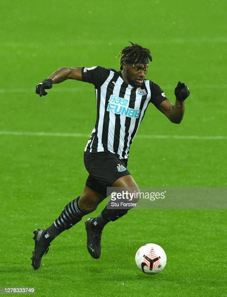 Newcastle wing wizard Allan Saint-Maximin in action during the Premier League match between Newcastle United and Burnley at St. James Park on October...