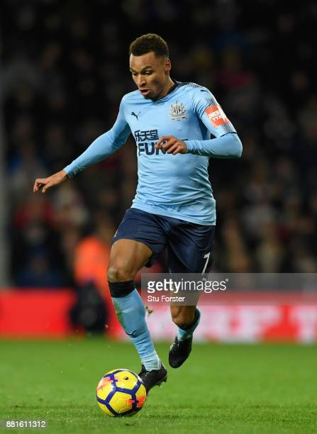 Newcastle winger Jacob Murphy in action during the Premier League match between West Bromwich Albion and Newcastle United at The Hawthorns on...