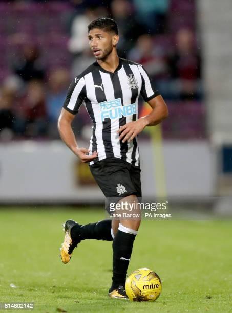 Newcastle's Achraf Lazaar during the preseason friendly at Tynecastle Stadium Edinburgh
