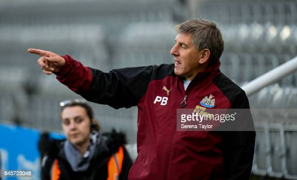 Newcastle's Football Development Manager Peter Beardsley during the Premier League 2 match between Newcastle United and Norwich City at StJames' Park...