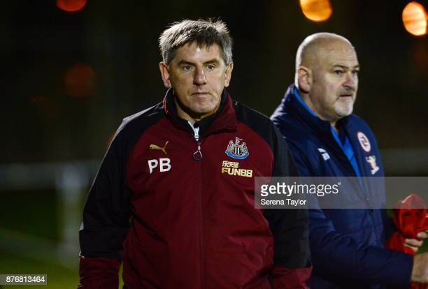 Newcastle's Football Development Manager Peter Beardsley during the Premier League 2 match between Newcastle United and Reading at Whitley Park on...