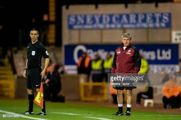 Newcastle's Football Development Manager Peter Beardsley stands on the sidelines during the EFL Checkatrade Trophy match between Port Vale and...