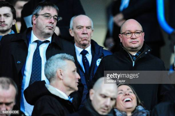 Newcastle's Managing Director Lee Charnley in the stands during the Sky Bet Championship Match between Huddersfield Town and Newcastle United at John...