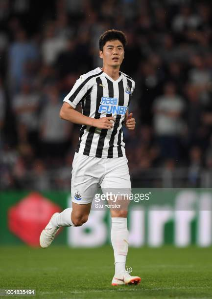 Newcastle's new free signing SungYeung Ki in action during a preseason friendly match between Hull City and Newcastle United at KCOM Stadium on July...