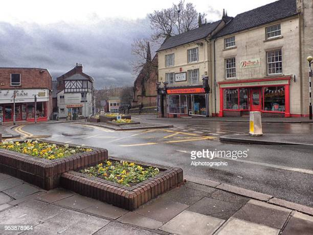 newcastle-under-lyme town centre - newcastle upon tyne stock pictures, royalty-free photos & images