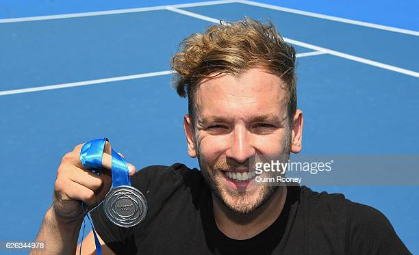 Newcombe medal winner Dylan Alcott poses during a media opportunity at Melbourne Park on November 29 2016 in Melbourne Australia