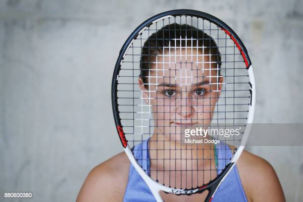 Newcombe Medallist Ashleigh Barty poses at Melbourne Park on November 28 2017 in Melbourne Australia Barty's rise up the WTA rankings has been...