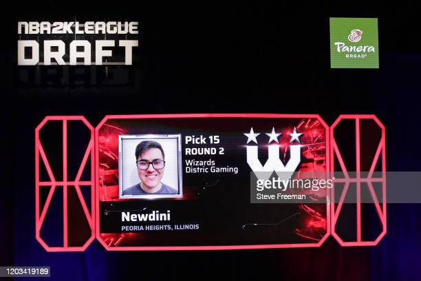 Newdini gets picked during the NBA 2K League Draft on February 22 2020 at Terminal 5 in New York New York NOTE TO USER User expressly acknowledges...