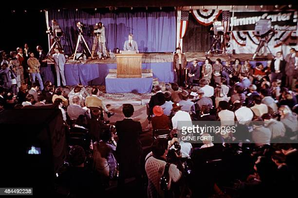 Newelected President Jimmy Carter gives a press conference after being elected 39th President of the United States on November 05 1976 in Plains...