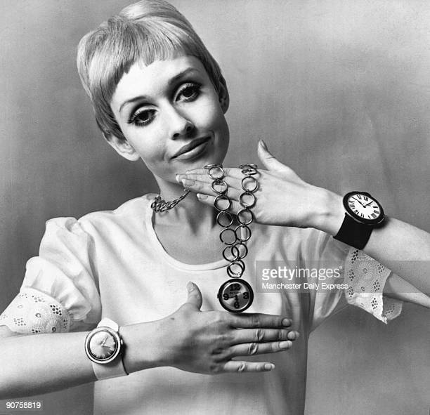 ?Newest ?baby? model 16-year-old Charlie - she?s even smaller than Twiggy - wears three of the new watches?.