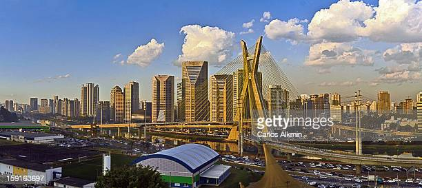 newest sao paulo corporate skyline - são paulo stock pictures, royalty-free photos & images