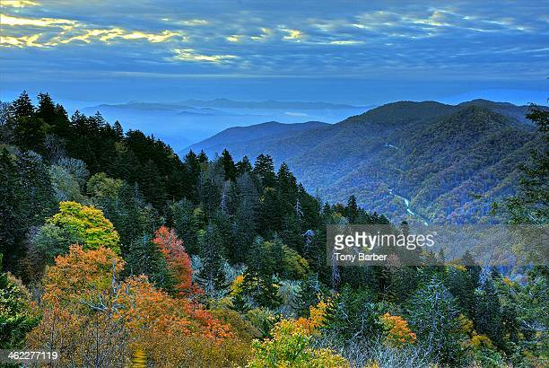 newfound gap sunrise - newfound gap stock photos and pictures