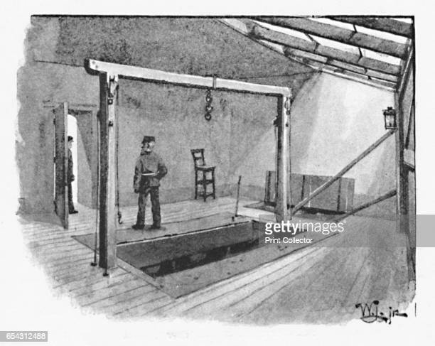 Newgate - The Gallows, 1891. Newgate Prison was a prison in London, at the corner of Newgate Street and Old Bailey just inside the City of London. It...
