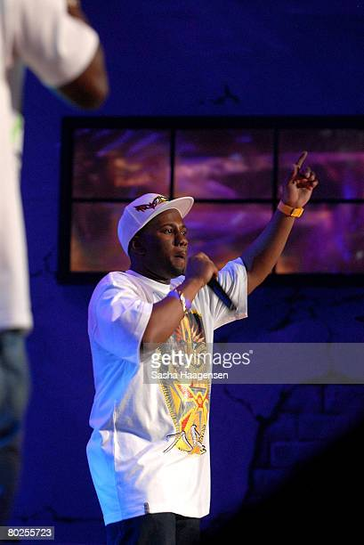 Newham General, Footsie performs during the Dizzee Rascal's set at the DirecTV SXSW Live Broadcast on March 14, 2008 at the Austin Convention Center...