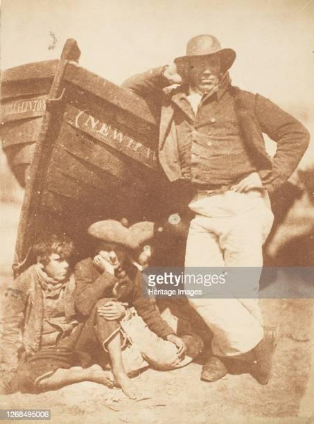 Newhaven Fisherman with Two Boys, 1843-47. Artist David Octavius Hill, Robert Adamson, Hill & Adamson.