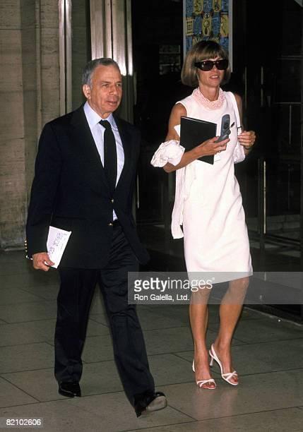 SI Newhouse and Anna Wintour