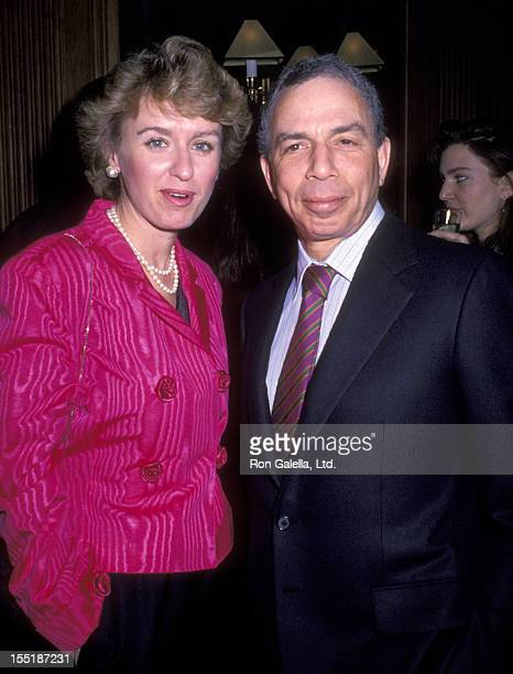 SI Newhouse and journalist Tina Brown attend Vanity Fair Magazine Party on December 5 1988 at Metro Restaurant in New York City