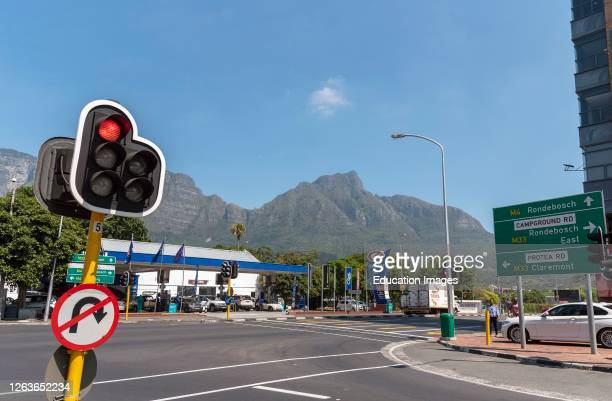 Newlands, Cape Town, South Africa, Newlands a suburb of Cape Town situated on the opposite side of Table Mountain. Road juncetion of M33 and M4.