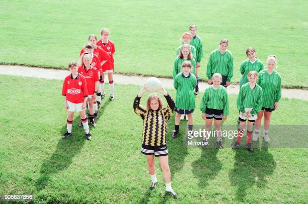 Newlands School Middlesbrough 7th June1996 Pictured Newlands School Girls Football Team who have won all 15 of their matches and with wone match to...