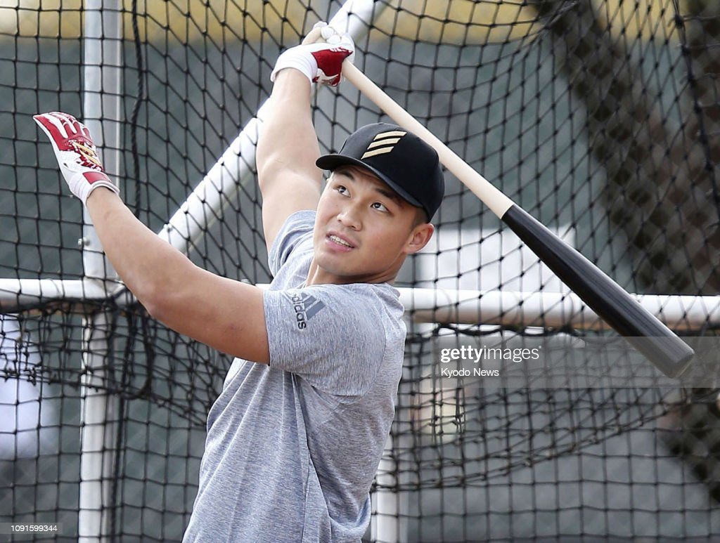 Newly acquired Nippon Ham Fighters outfielder Wang Po-jung