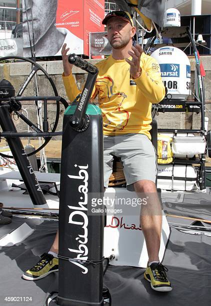 Newly announced ambassador Ian Walker onboard during the Laureus Abu Dhabi Ocean Racing on November 15 2014 in Cape Town South Africa
