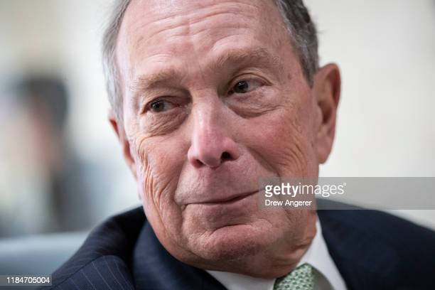 Newly announced Democratic presidential candidate, former New York Mayor Michael Bloomberg meets Virginia House Delegate-Elect Nancy Guy at a coffee...