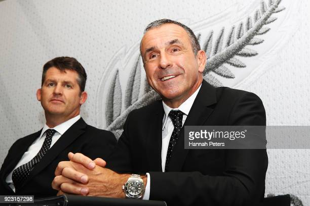 Newly appointed All Whites head coach Fritz Schmid speaks to the media at a press conference at QBE Stadium on February 23 2018 in Auckland New...