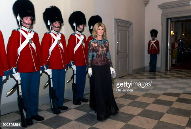 Newly appointed ambassador to Denmark and former actress Carla Sands arrives at the Traditional New Year's Banquet for foreign diplomats hosted by...