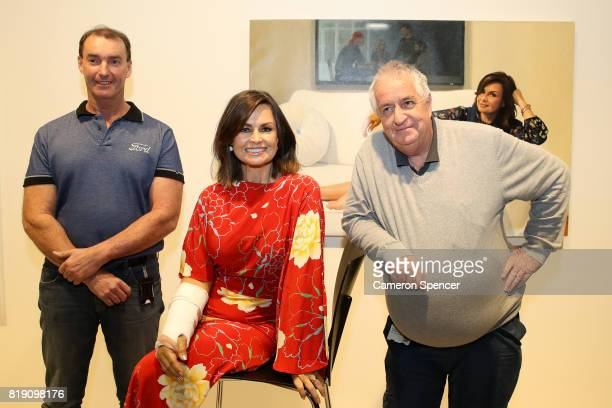 Newly appointed Art Gallery of New South Wales head packer Brett Cuthbertson Lisa Wilkinson and Art Gallery of New South Wales Head Packer Steve...
