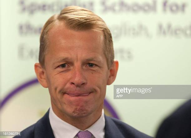 Newly appointed British Education Minister David Laws is pictured while on an official visit to Mulberry School for Girls in London on September 5...