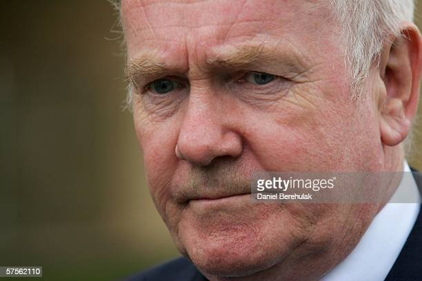 Newly appointed British Home Secretary John Reid speaks to media after a commendation ceremony on May 9 2006 in Henfield England A Commissioner's...