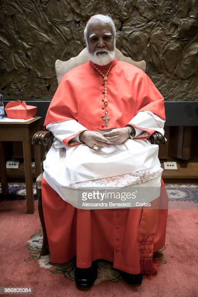 Newly appointed cardinal Joseph Coutts of Pakistan poses following a consistory ceremony lead by Pope Francis to create 14 new cardinals at St Peters...