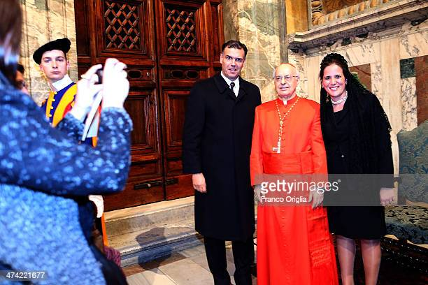Newly appointed cardinal Lorenzo Baldisseri greets visitors in the Apostolic Palace during the courtesy visits in the Apostolic Palace on February 22...
