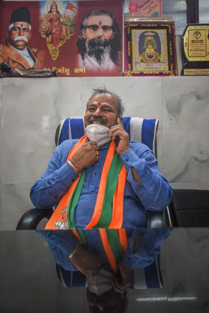 IND: Delhi BJP President Adesh Gupta Meets Workers And Supporters At His Office In Patel Nagar