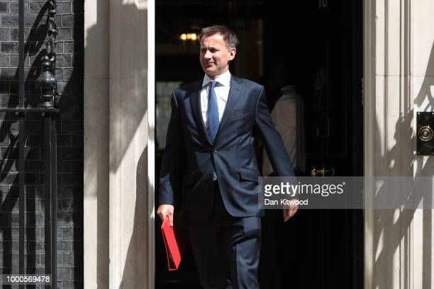 Liz Truss Chief Secretary to the Treasury arrives at Downing Street on July 17 2018 in London England MPs vote on the trade bill in Parliament today...