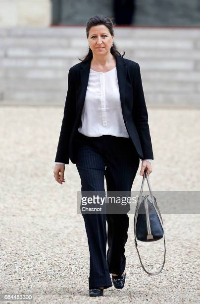 Newly appointed French Health and Solidarity Minister Agnes Buzyn leaves the Elysee Presidential Palace after the first weekly cabinet meeting on May...