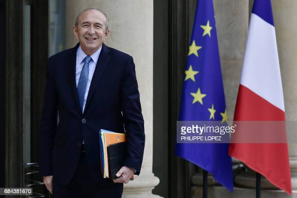 Newly appointed French Interior minister Gerard Collomb arrives at the Elysee presidential palace in Paris on May 18 before the first weekly cabinet...