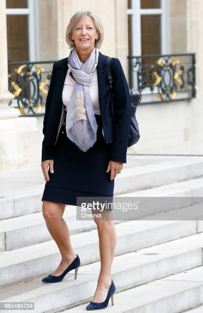 Newly appointed French Junior Minister in Charge of Disabled people Sophie Cluzel arrives at the Elysee presidential palace for the first weekly...