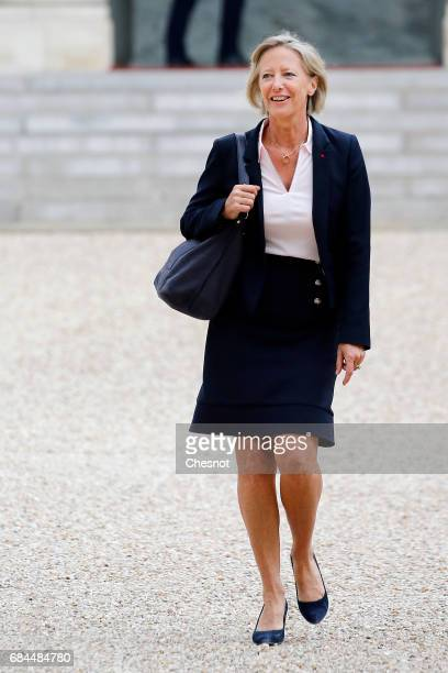 Newly appointed French Junior Minister in Charge of Disabled people Sophie Cluzel leaves the Elysee Presidential Palace after the first weekly...