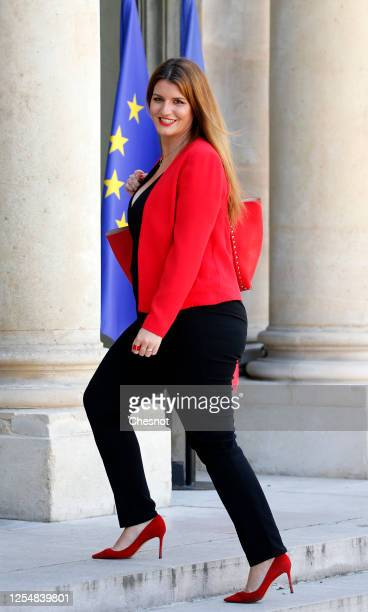 Newly appointed French Junior Minister of Citizenship Marlene Schiappa arrives at the Elysee presidential palace to attend a weekly cabinet meeting...