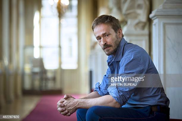 Newly appointed General administrator of the Comedie-Française, French actor Eric Ruf, poses on July 17, 2014 at the Comedie Francaise in Paris. Ruf...